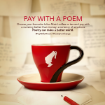 Pay With A Poem Day - image courtesy Julius Meinl