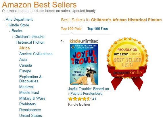 Joyful Trouble, Bestseller and Most Gifted Book on Amazon UK