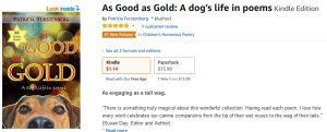 As Good As Gold is #1 NEW Release in Children's Humorous Poetry!