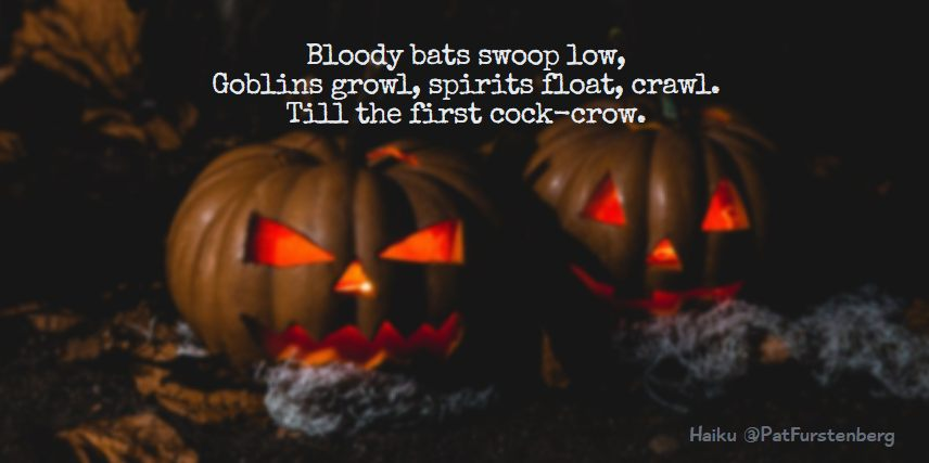 Bats and Goblins, Halloween Haiku via @PatFurstenberg #halloween #haiku