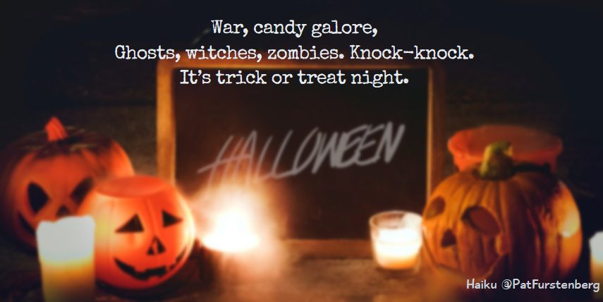 Trick or Treat Night 🎃, Halloween Haiku via @PatFurstenberg #haiku #halloween