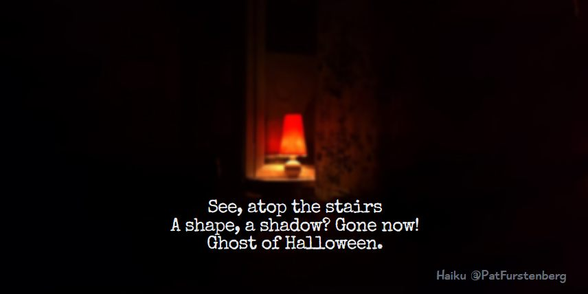 Stairs Ghost, Halloween Haiku via @PatFurstenberg #haiku #halloween
