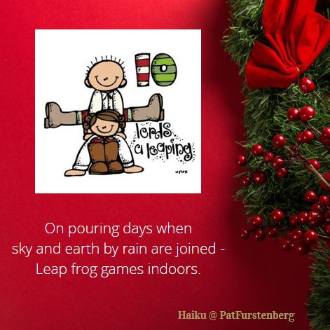 10th Day of Christmas Haiku, #Haiku, #lordsaleaping via @PatFurstenberg