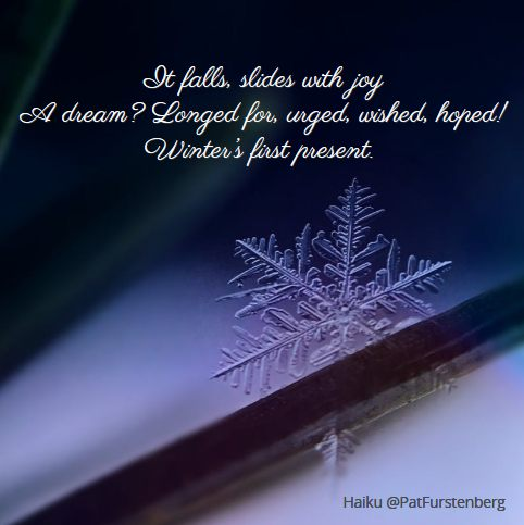 Snowflake, #Christmas #Haiku via @PatFurstenberg
