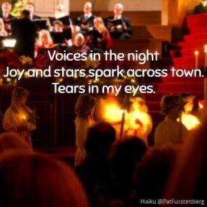 Carolers, Christmas Haiku