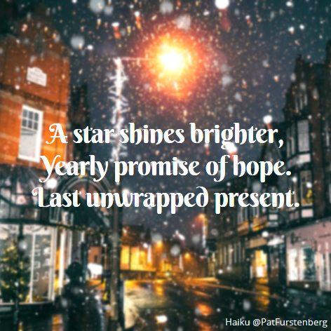 Christmas Eve, #Christmas #Haiku via @PatFurstenberg