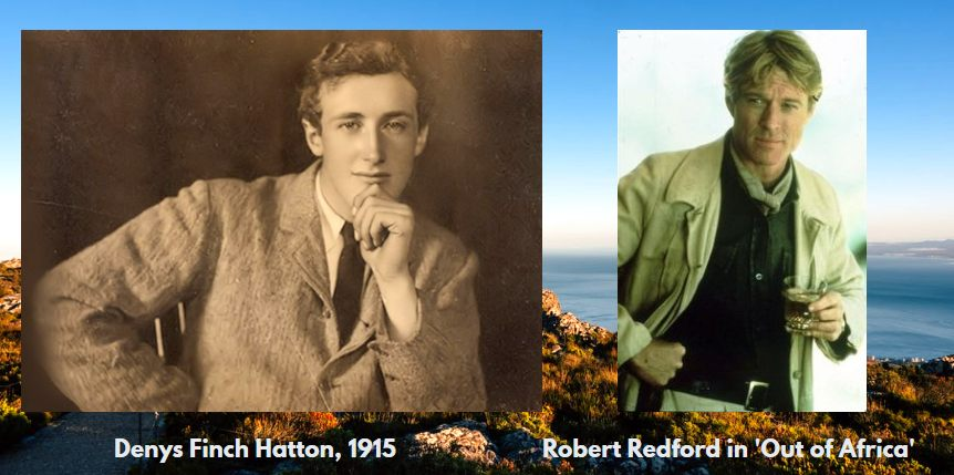 Denys Finch Hatton, 1915, and Robert Redford in 'Out of Africa'