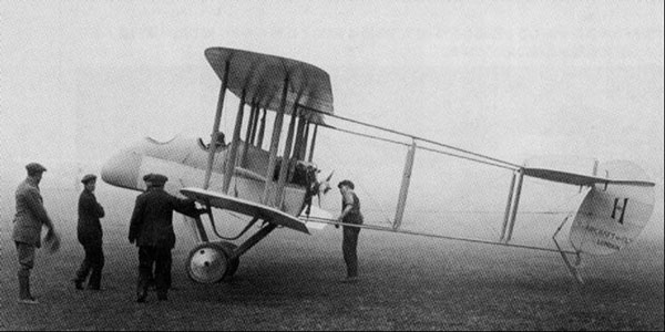 Early pusher style aircraft, like this British Airco DH-1, were no match for single seat scouts designed specifically for air to air combat. source militaryhist.online