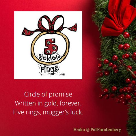 5th Day of Christmas Haiku, #Christmas, #Haiku, #goldenrings via @PatFurstenberg