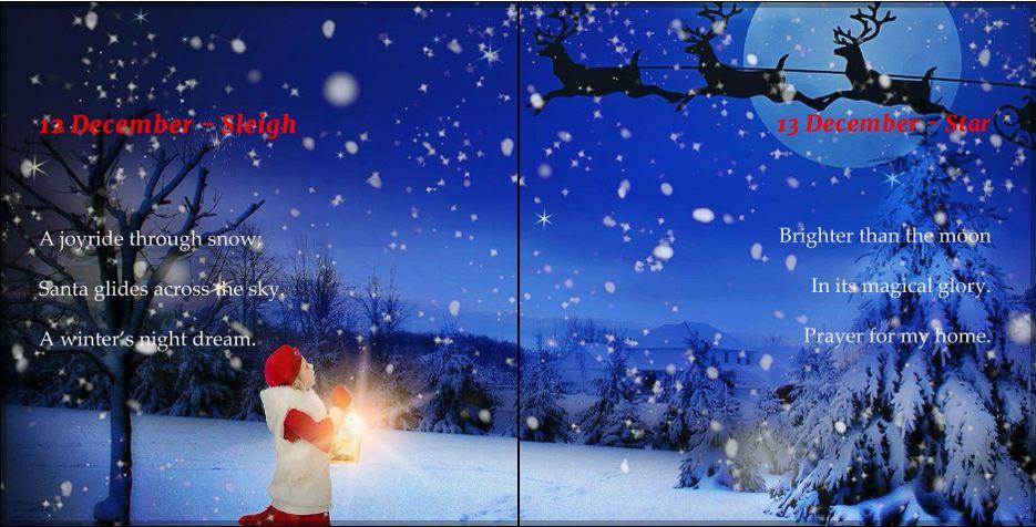 winter wonderland, Christmas poem book