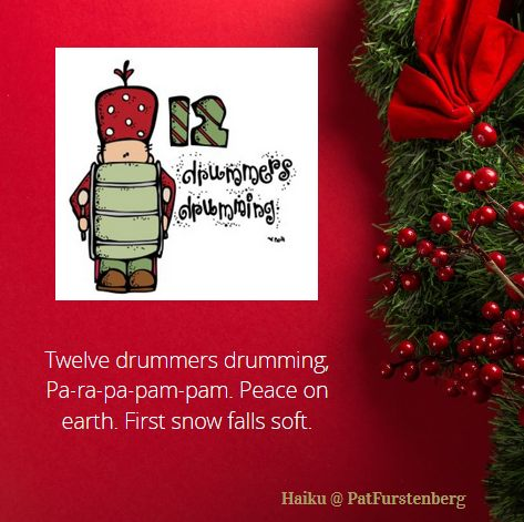 12th Day of Christmas Haiku, #Haiku, #drummers #drumming via @PatFurstenberg