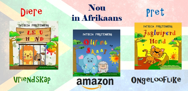 Nou in Afrikaans - geliefde kinderboeke deur Patricia Furstenberg. Get them from Amazon. children books patricia furstenberg