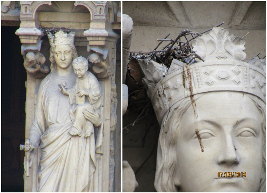 Madonna with Child, Portal of the Virgin -Notre Dame Cathedral - photo by Lysandra Furstenberg