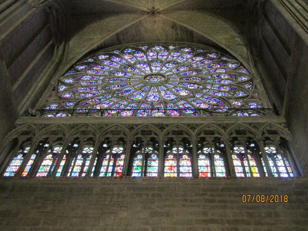 Notre Dame Cathedral - N rose window (about 1260, rebuilt in 1861) photo by Lysandra Furstenberg