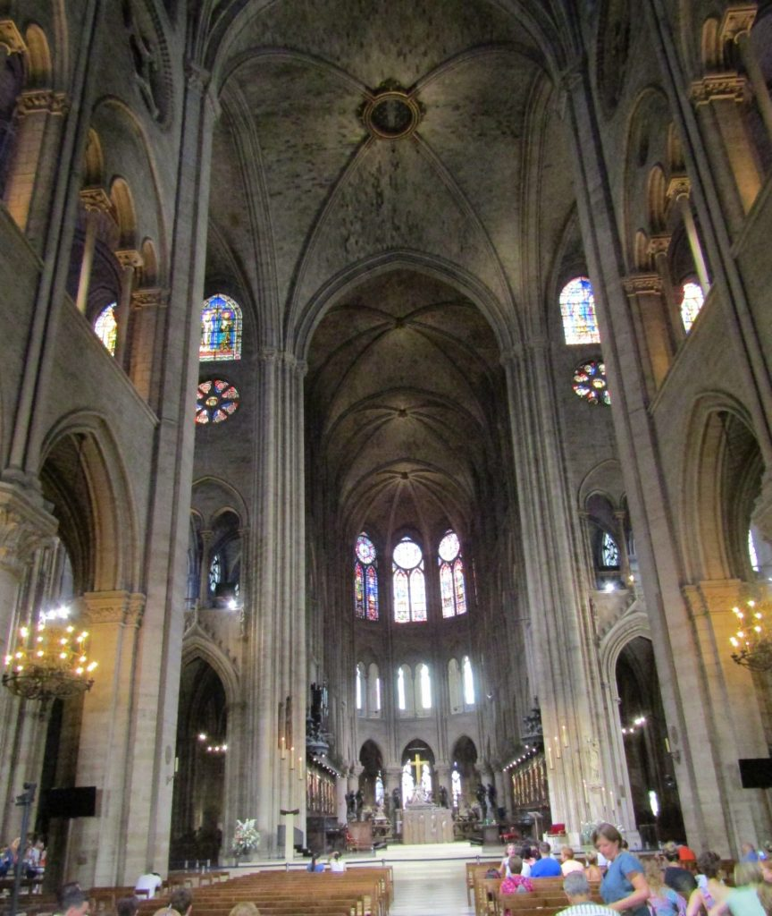 Notre Dame Cathedral ceiling main nave view 1 - photo by Lysandra Furstenberg