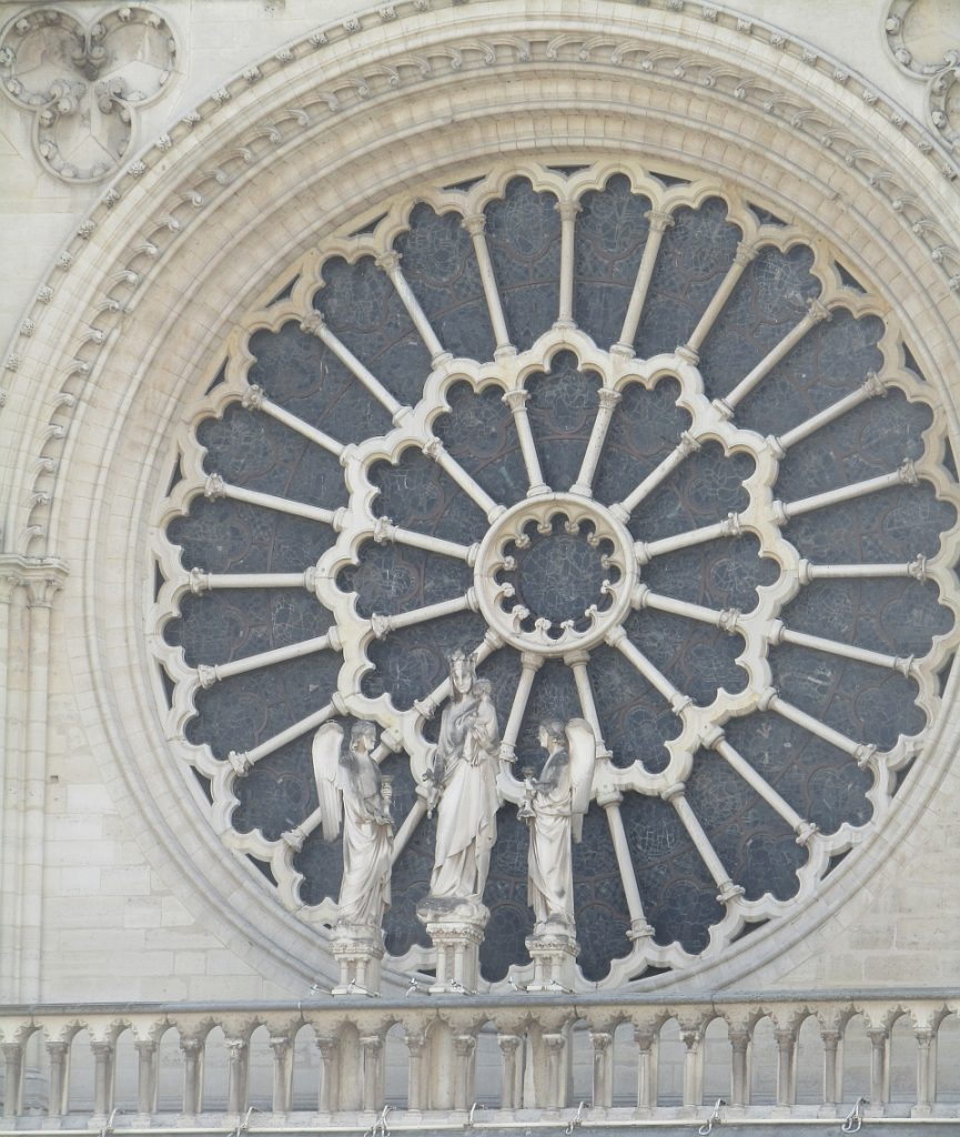Notre Dame Cathedral rose window exterior - photo by Lysandra Furstenberg
