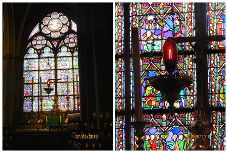 Notre Dame Cathedral - stained glass windows detail -photo by Lysandra Furstenberg