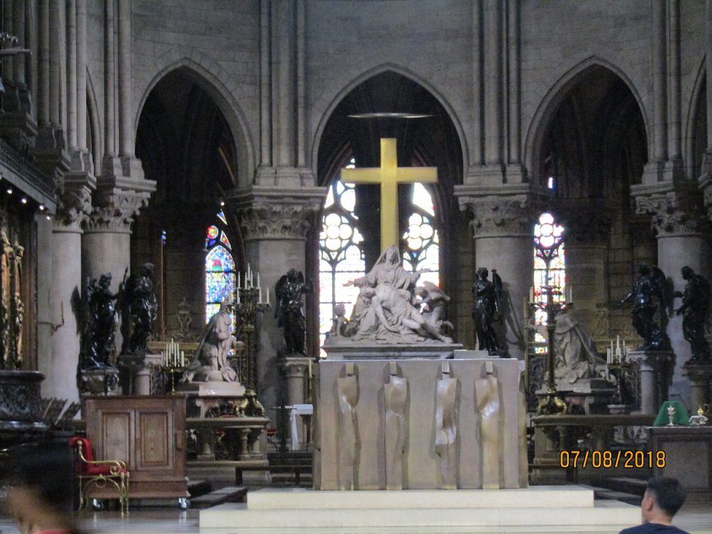 Notre Dame Cathedral view of High Altar and Pieta - photo by Lysandra Frustenberg