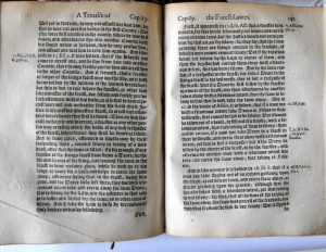 The 1598 edition of John Manwood's Lawes of the Forrest - about rules of keeping dogs. Source abebooks