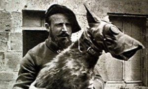Satan the dog saved a contingent of French soldiers at the Battle of Verdun