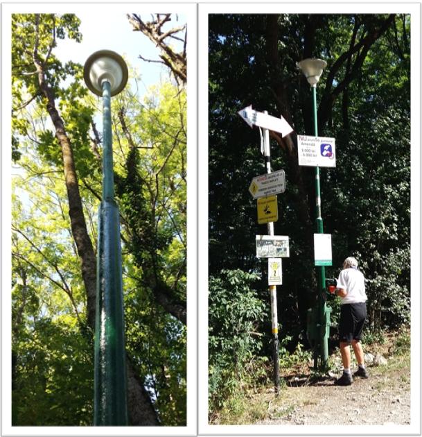 Lamp posts on Mount Tampa, Muntele Tampa, Brasov. Image by @PatFurstenberg