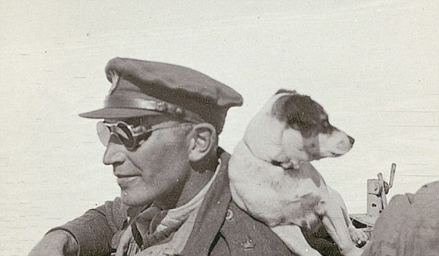 Major Paddy Mayne, a Norther Ireland Officer and his dog
