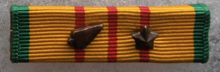 Bronze Arrowhead. Army & USAF participation in parachute, glider & amphibious assault or landing.