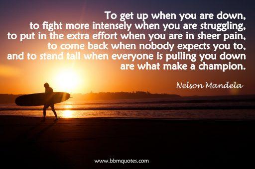Nelson Mandela motivational quote