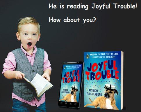 He reads Joyful Trouble myBook.to/JoyfulTrouble