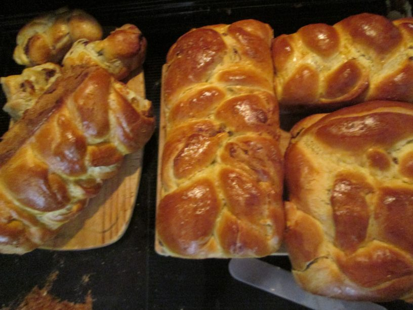 The oldest Christmas story, cozonac, Romanian sweet bread fresh from the oven for Christmas and Easter