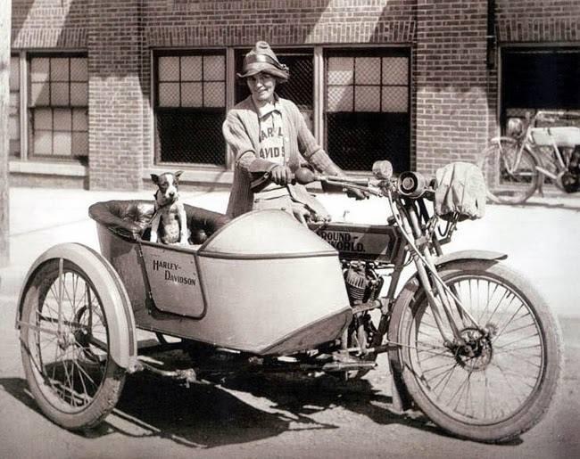 A Harley-Davidson, Brave Della Crewe and Trouble the Dog - Patricia Furstenberg