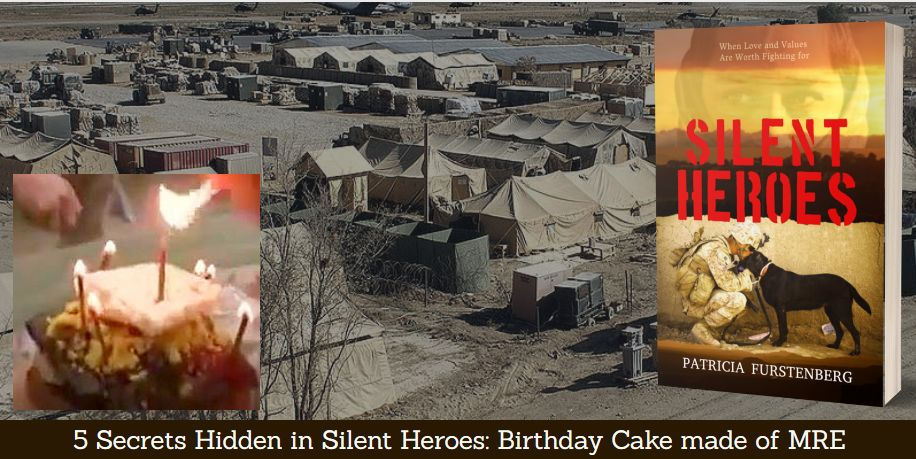 5. Birthday Cake made of a soldier's meal ready to eat, MRE - heartbreaking in its humanity.