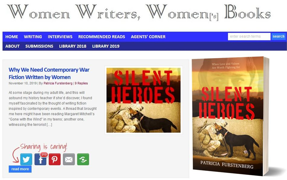 Silent Heroes by Patricia Furstenberg - interviews guest posts links