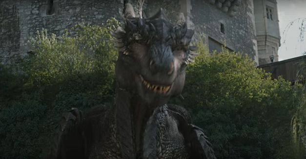 Dragonheart: Battle for the Heartfire  - Drago on the valley near Corvin Castle