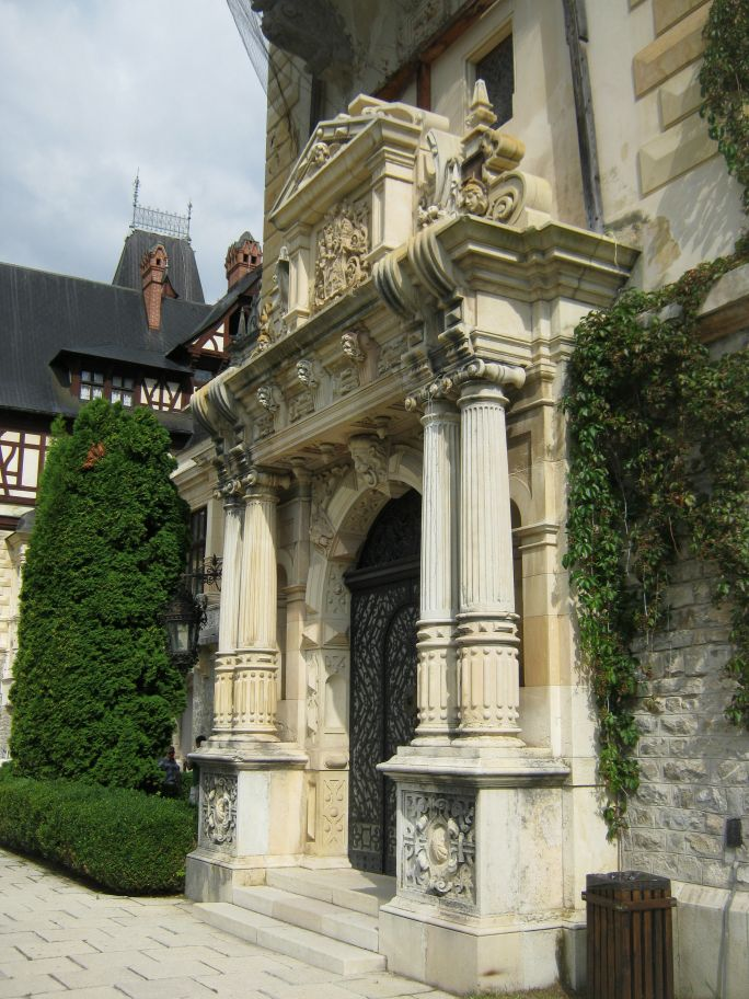 Peles Castle, Sinaia, the main entrance