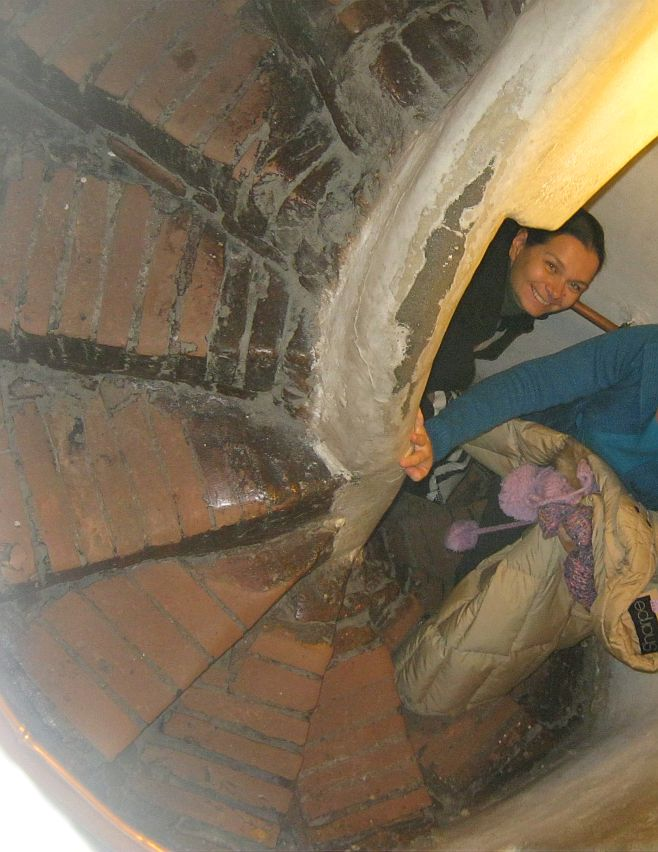 going up in the Clock Tower of medieval Sighisoara