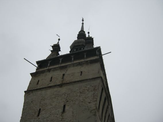 The top of the Clock Tower, Sighisoara