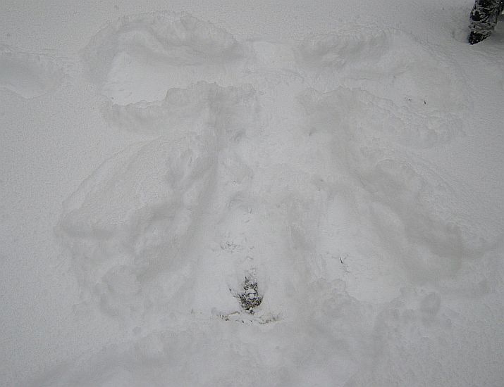 snow angel in winter. a spiritual meaning