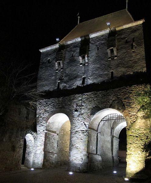Journey in medieval city sighisoara. Tailors' Tower, medieval Sighisoara - Turnul Croitorilor