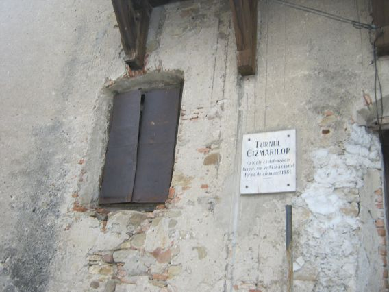Shoemakers' Tower Sighisoara plaque - Turnul Cizmarilor - marvel medieval towers fortress
