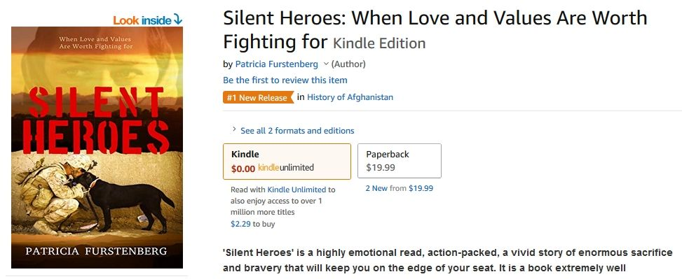 Silent Heroes #1 New Release History in Afghanistan - how is my writing different in my genre