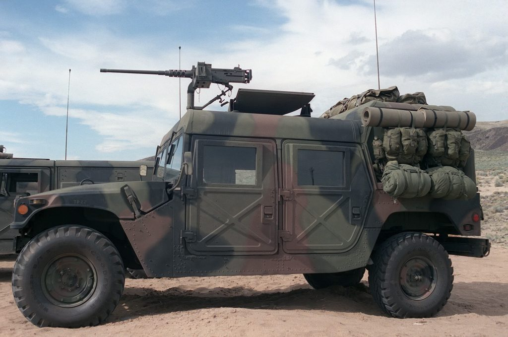 the High Mobility Multipurpose Wheeled Vehicle (HMMWV - colloquial: Humvee). journey heroes Oshkosh vehicle