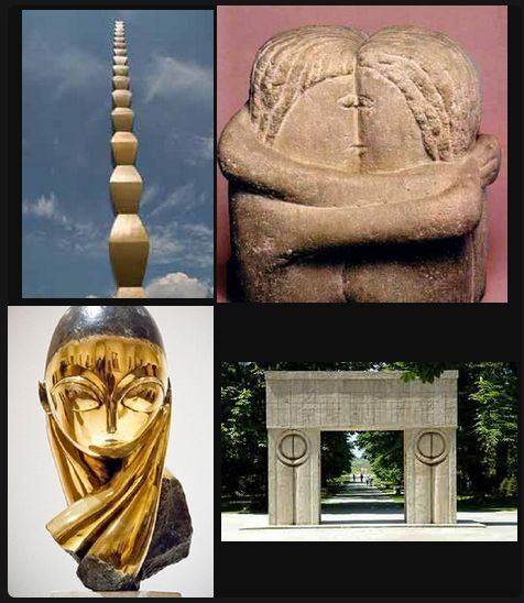 Jewels of Romanian History and Travel, Constantin Brancusi Best know for: Column of Infinity  Kiss, Miss Pogany, Gate of the Kiss