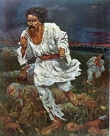 """Octav Băncilă's iconic """"1907"""" painting"""
