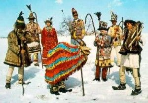 Romanian folklore myths legends, caroling with the goat, Christmas in Romania