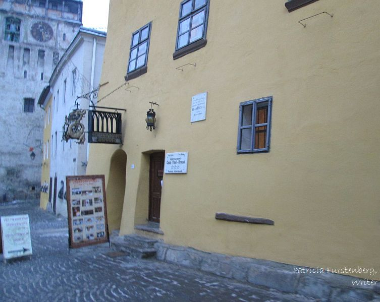 The house where Vlad Tepes, Vlad the Impaler was born - A house like any other.