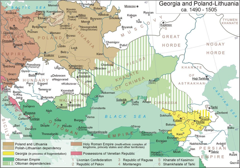 East Europe during the 14th century - Ottoman Empire, Wallachia, Moldovia and Transylvania (still part of Hungary)