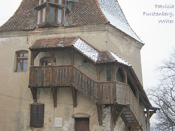 Shoemakers Tower, Sighisoara - new, wooden staircase