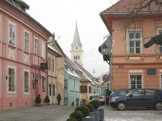 Glimpse from the City Square towards the Clock Tower, Sighisoara