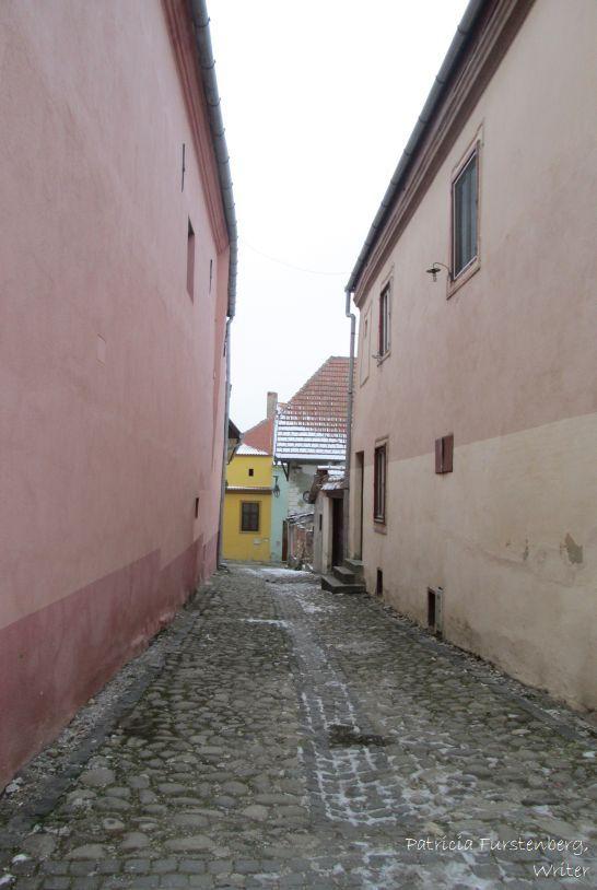 Sighisoara - narrow streets stone paved.